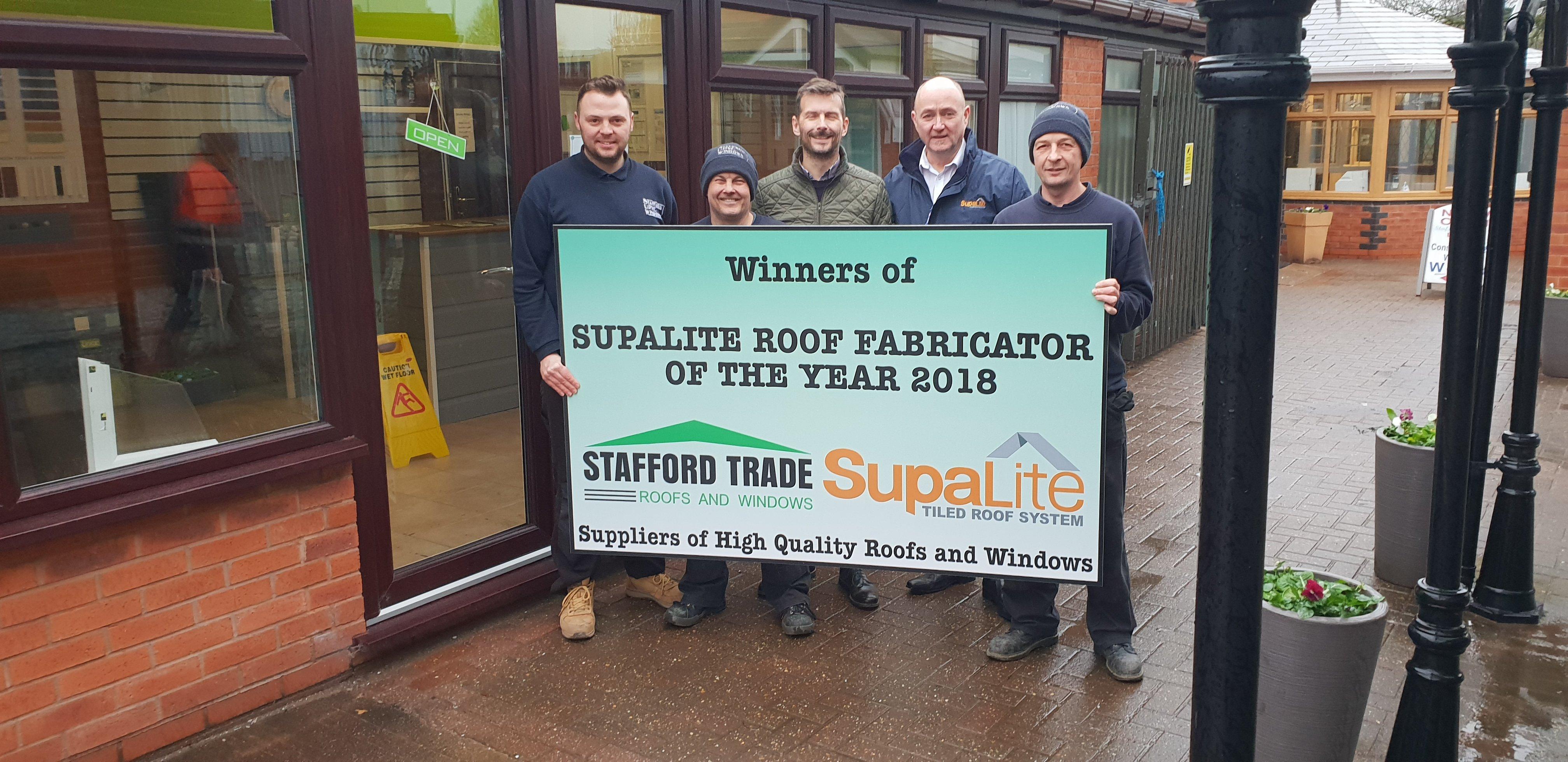 SupaLite Roof Fabricator of the Year 2018