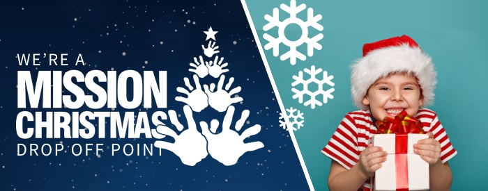 We're a Mission Christmas Drop Off Point!