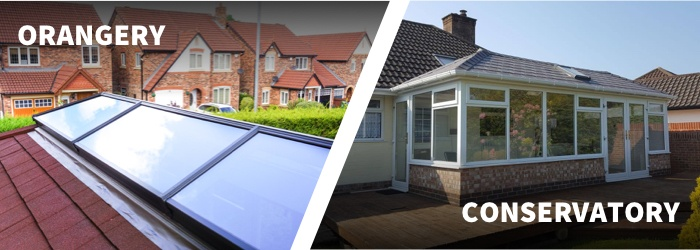 other differences between conservatory and orangery