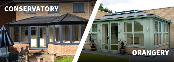 technical differences between conservatory and orangery