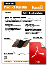 Product Bulletin - Valley Trays