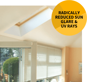 a tiled roof radically reduces any sun glare