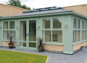 orangery black replacement conservatory roof
