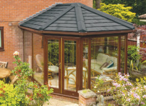 black slate conservatory roof