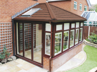 brown replacement conservatory roof