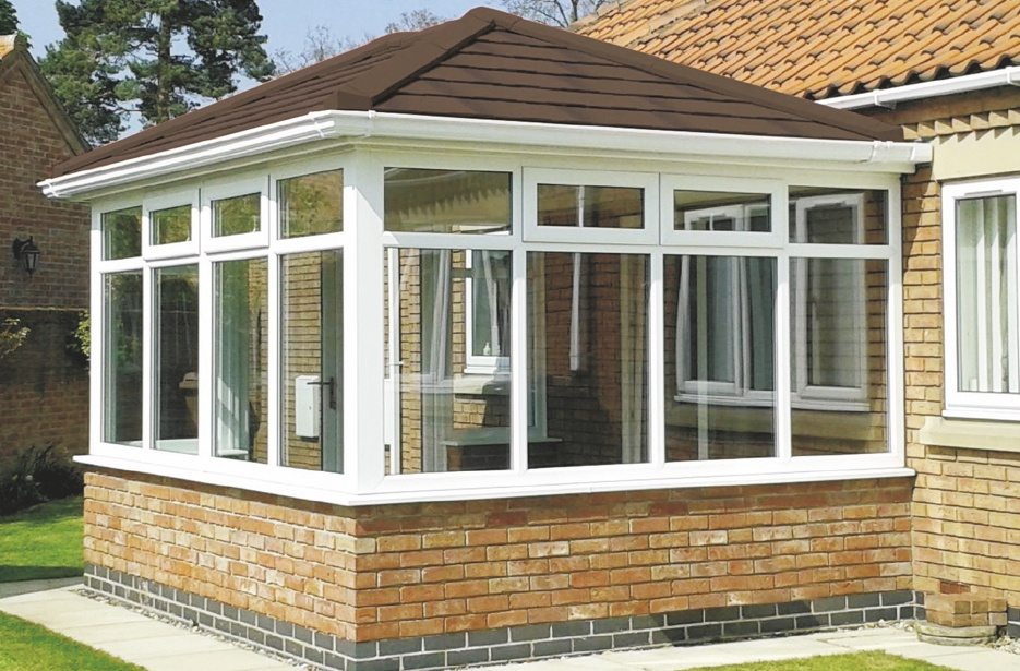 brown tiled conservatory roof
