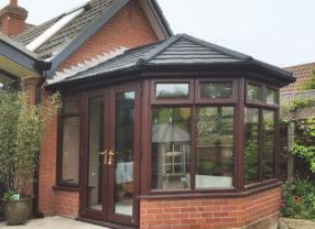 black slate conservatory roof